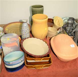 Group of assorted pottery and ceramic items to include