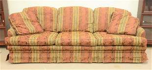 Large upholstered sofa and ottoman ht 36 lg 108