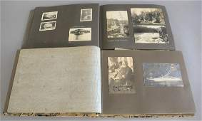 Two photo albums of early 20th C photos including