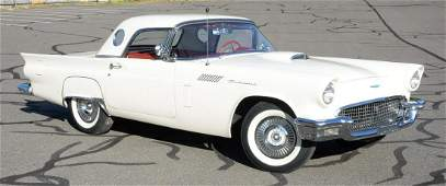 1957 Ford Thunderbird T-Bird, Colonial white with