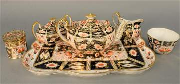 One-Hundred-and-Three Piece Royal Crown Derby Luncheon