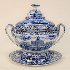 Rare Rogers Staffordshire Large Soup Tureen with cover