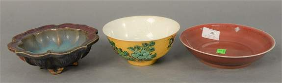 Group of three Chinese porcelain bowls to include