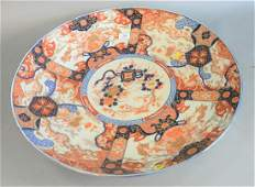 Large Japanese Imari charger 19th/20th C., floral
