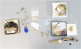 Group of silver and costume jewelry, David Yurman