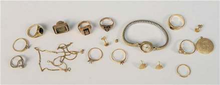 Group of assorted gold to include eight 14K rings, 14K