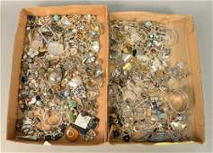 Large group of sterling silver and costume jewelry two