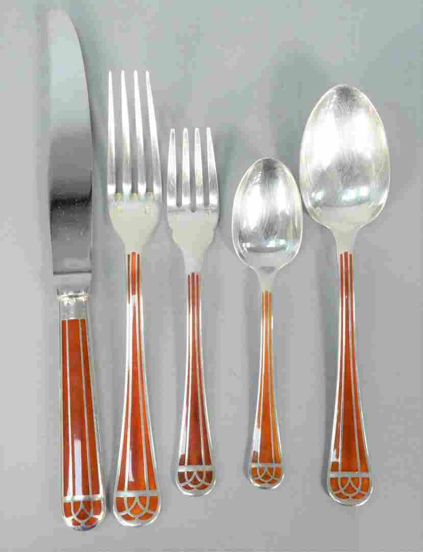 Forty Piece Christofle Talisman Pattern Silver Plated