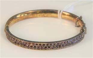 Two piece lot including a 10 Karat Bangle Bracelet set