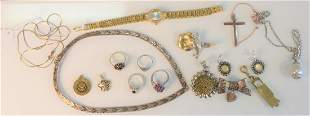 Lot of Sterling Silver Jewelry  to include wristwatch,