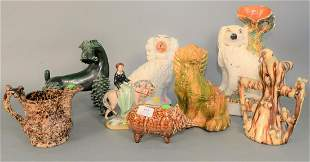Eight piece group of Pottery  to include three