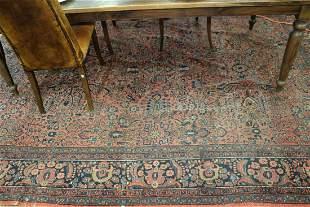 "Hamaden Oriental Carpet low pile 8' 9"" x 11' 7"" first"