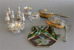 Sterling Silver Lot to include set of six nut dishes,