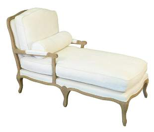 Restoration Hardware Louis IV Style White Upholstered