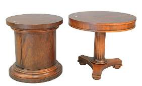 Three Piece to include two round mahogany Ralph