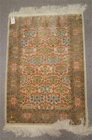 Silk Oriental and Bokara Oriental Throw Rug 2' x 3' and
