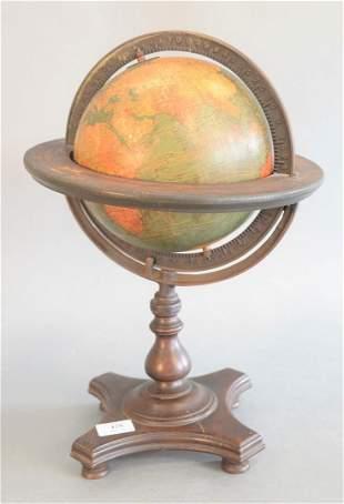 Kittinger Company Small Terrestrial 8 Inch Globe, 1833