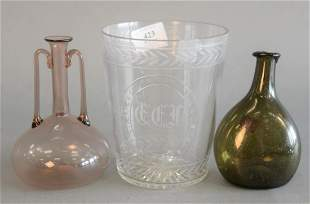 Three Piece Group  to include Sinclair crystal beaker;