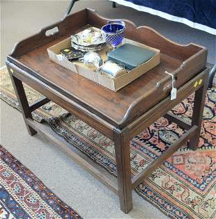George IV Mahogany Serving Tray now mounted on custom