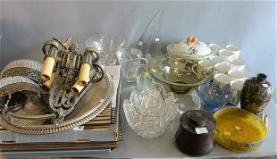 Large grouping of assorted items to include; Steuben,