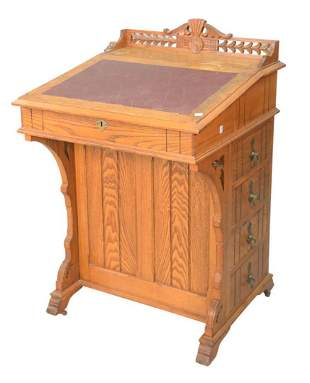 Oak Victorian Davenport Desk height 31 1/2 inches,