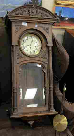 German Walnut Regulator Clock Provenance: Thirty-five