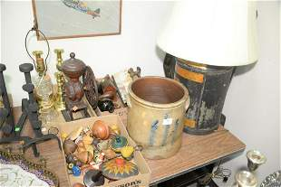Large Group of Assorted Items  to include figural wood