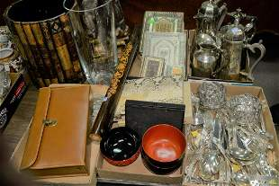 Large Group of Assorted Items to include leather book