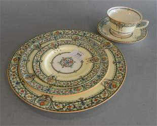 """Fifty-five Piece Set of Royal Worcester """"Chantilly"""""""