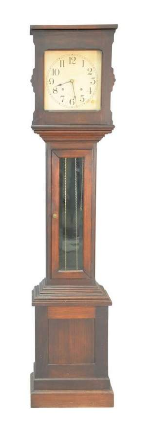 Mahogany Tall Case Clock with weights and pendulum