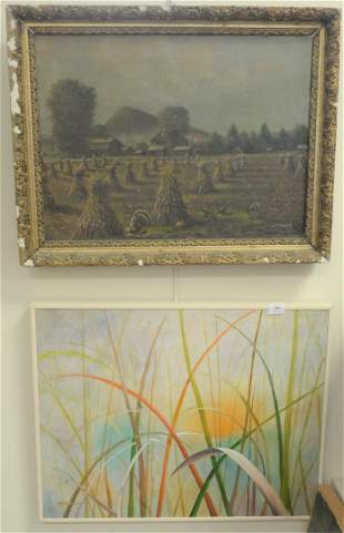 Three Framed Paintings to include B.V. Brook, oil on