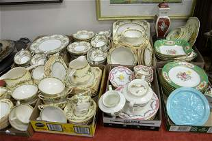 Group of Eight Tray Lots of Various Porcelain Pieces to