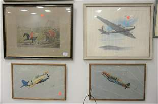 Group of Nine Prints and Lithographs to include Tavik