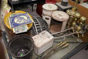 Large group of items to include; tin and porcelain