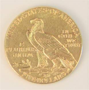 1913 Indian $5 Gold.