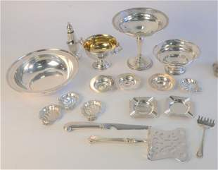 Sterling Silver Group, to include weighted compote;