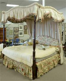 Custom Made King Size Canopy Bed, with Bennison