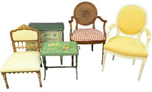 Five Piece Lot, to include diminutive 3 drawer chest