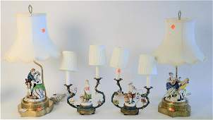 Two Pairs of Figural Table Lamps, to include pair of