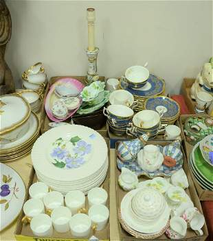 Four Tray Lots, to include Coalport and Royal Cauldon