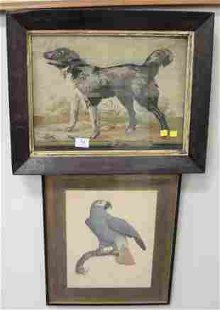 Three Piece Lot, to include a Jacques Barraband framed