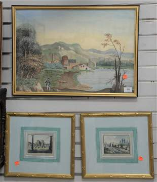 Ten Piece Group of Framed Scenes, to include a large