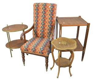 Four Piece Lot, to include child's armchair with
