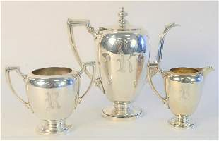 Reed & Barton Three Piece Sterling Silver Tea Set, to
