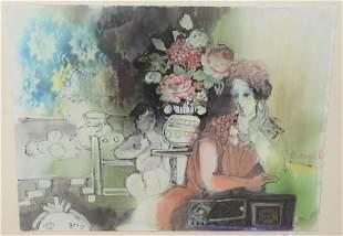 Batia Magal (Israeli, b. 1953), interior scene with