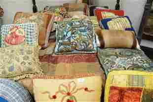 Sixteen Piece Lot of Pillows, to include beadwork,