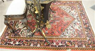 """Oriental Area Rug, 6' 2"""" x 6' 6"""". Provenance: From the"""