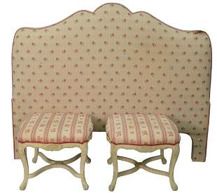 Three Piece Lot, to include pair of Louis XV style