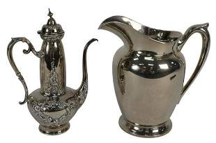 Two-Piece Sterling Silver Pitcher and Teapot, pitcher