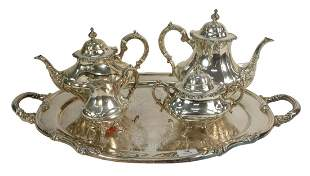 Reed and Barton Sterling Silver Four Piece Tea Set with
